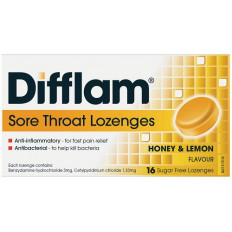 Difflam Sore Throat Lozenges Honey/Lemon 16