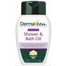 DermaVeen Extra Gentle Shower and Bath Oil 250mL