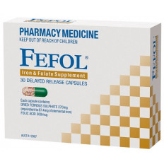 Fefol Iron and Folate Supplement 30 Capsules