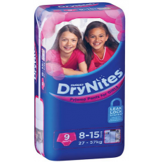 Huggies DryNites Girl 8-15 Years 9 Pants