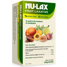 Nulax Fruit Laxative Block 250g