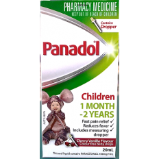 Panadol Children Baby Drops Colour Free 20mL With Dropper