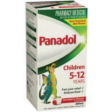 Panadol Children 5-12 Years Strawberry 200mL