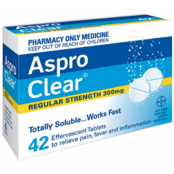 Aspro Clear Regular Strength 42 Tablets