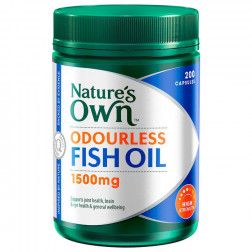 Nature's Own Omega 3 High Strength Odourless Fish Oil 1500 MG X 200 Caps