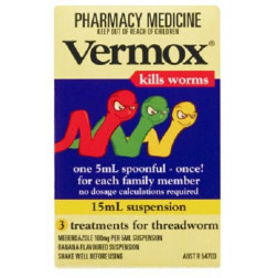 Vermox Suspension 15mL 3 Treatments