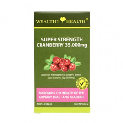 Wealthy Health Super Strength Cranberry 35,000mg 30 Capsules