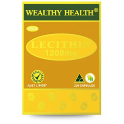 Wealthy Health Lecithin 1200mg - 200 Capsules