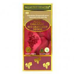 Wealthy Health Maxi Organic Red Grape Seed 30000 90 Capsules